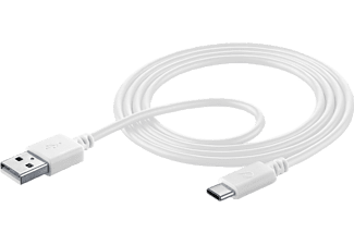 CELLULARLINE USB-C-kabel 1.2 m Wit (USBDATACUSBA-CW)
