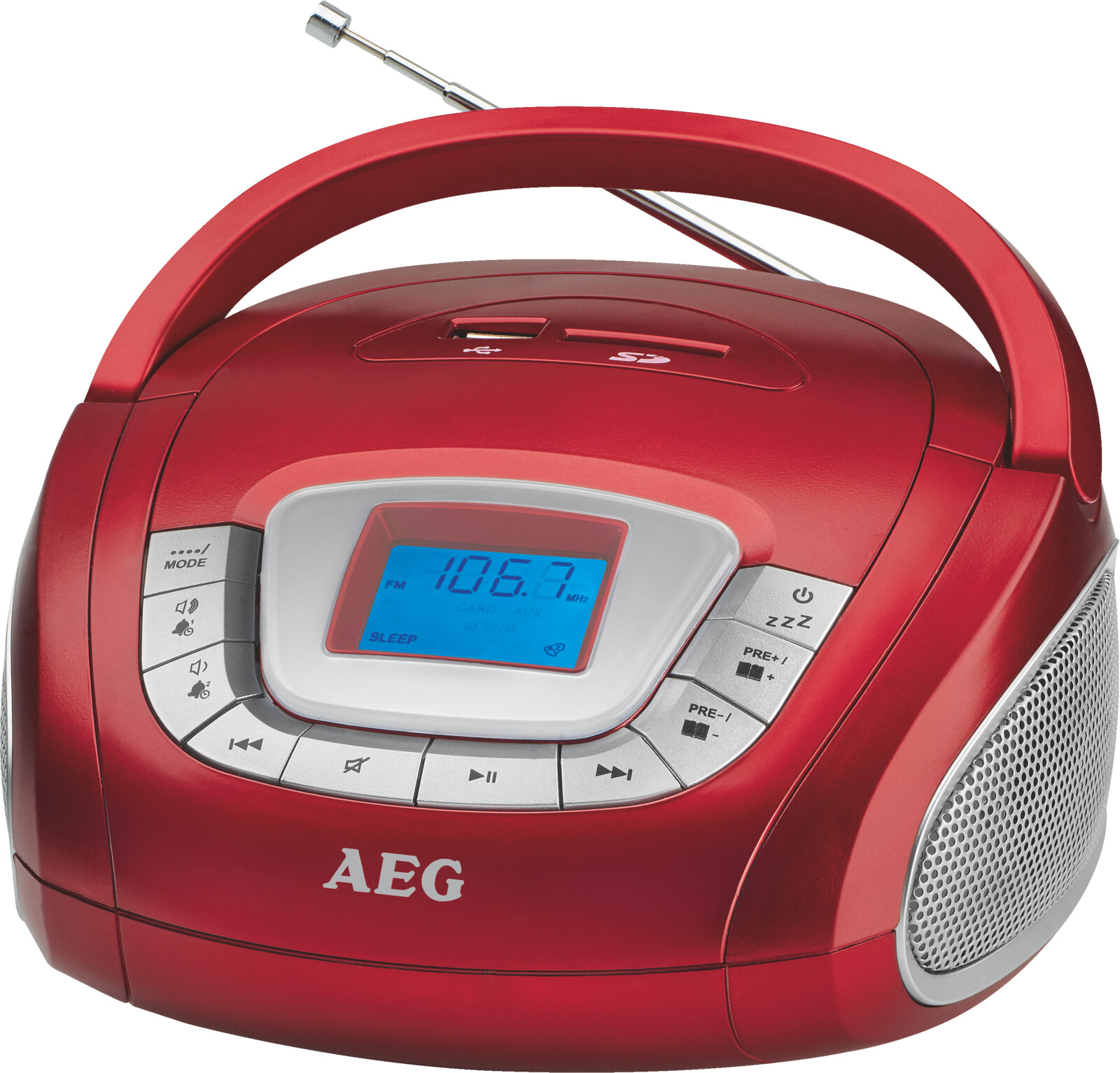 aeg sr 4373 stereoradio ukw rot ebay. Black Bedroom Furniture Sets. Home Design Ideas