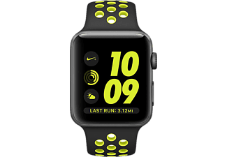 APPLE Watch Nike+ MP0A2TU/A 42mm Uzay Grisi Alüminyum Kasa ve Siyah/Volt Nike Spor Kordon
