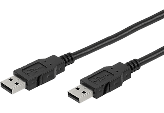 VIVANCO USB-kabel USB A Till USB A - Svart