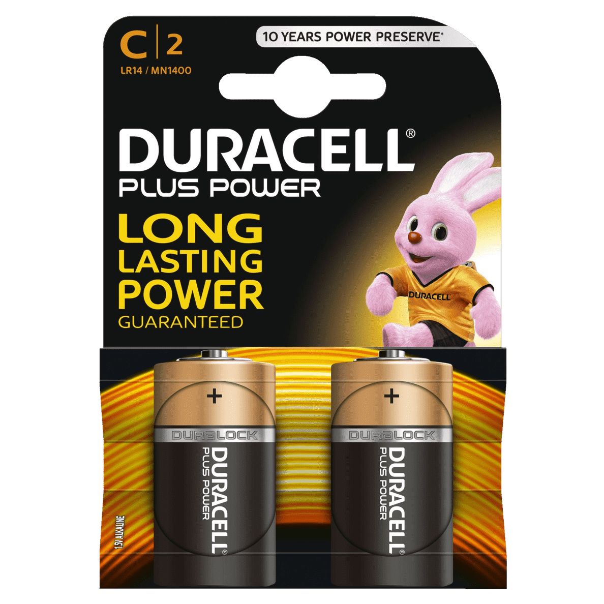 DURACELL Plus Power C Batterie, 2 Stück