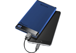 CELLULAR LINE Free Power Manta, Powerbank, 6000 mAh, Blau