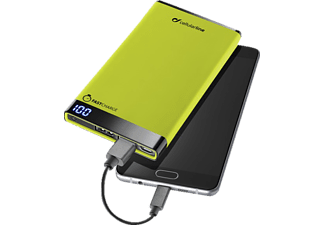 CELLULAR LINE Free Power Manta, Powerbank, 6000 mAh, Grün