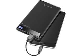 CELLULAR LINE Free Power Manta, Powerbank, 6000 mAh, Schwarz