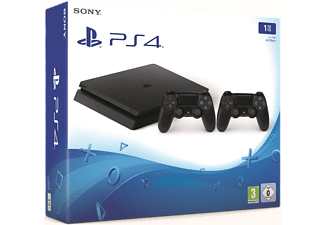 PLAYSTATION PS4 Slim 1 TB Zwart + extra controller