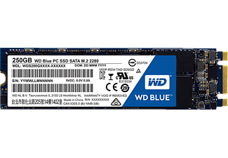 WD Blue™ M.2 2280, 250 GB SSD, intern, Blau