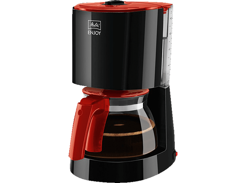MELITTA 1017-09 ENJOY BASIS Kaffeemaschine Schwarz/Rot