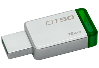 Pendrive 16 GB - Kingston Technology DataTraveler 50 USB 3.0 (3.1 Gen 1) Type-A Verde, Plata