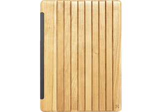 WOODCESSORIES EcoGuard, Flip Cover, iPad Pro, 12.9 Zoll, Silber/Kirsche