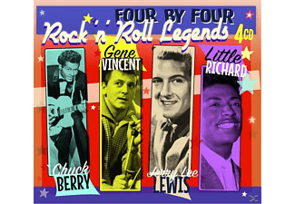 Chuck Berry, Gene Vincent, Jerry Lee Lewis, Little Richard - Four By Four-Rock'n'Roll Legends - (CD)