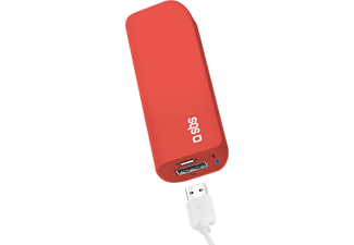 SBS MOBILE Compact Power Bank 3000 mAh - Röd