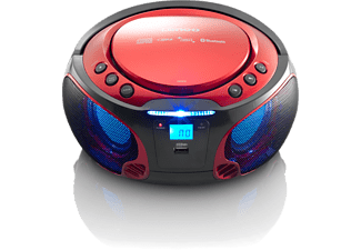 LENCO Draagbare radio CD Bluetooth SCD-550 Rood (SCD-550RD)