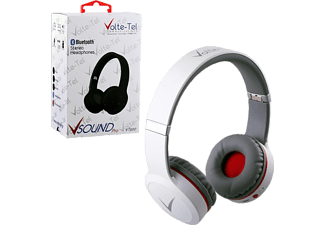 VOLTE-TEL Stereo Bluetooth Headphones V Sound Pro VT900 White-Grey-Red
