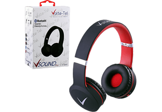 VOLTE-TEL Stereo Bluetooth Headphones V Sound Pro VT900 Black-Red