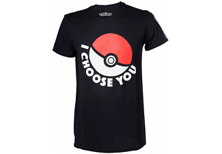 Pokémon T-Shirt - I Choose You - M - Schwarz