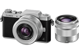 PANASONIC Appareil photo hybride Lumix DMC-GF7 + 12-32 mm + 35-100 mm + Sac + Carte SD