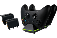 PIRANHA PI397101 XB1 Dual Charger W/ 2x Batt. , Charge Dock Xbox One, Schwarz