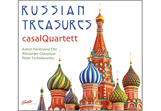 Casal Quartett - Russian Treasures: Titz,Glazunov,Tchaikovsky - (CD)
