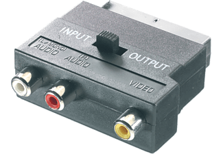 VIVANCO Scart - 3xRCA in/ut, 0.2m - Svart