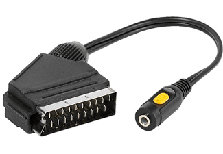 VIVANCO Scart - 3,5mm hona, 0.2m - Svart