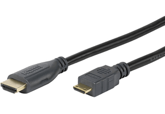 VIVANCO HDMI A, HS Ethernet - HDMI C, 3m - Svart