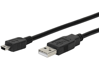 VIVANCO USB 2.0 A - USB mini B 1.8m svart - Svart