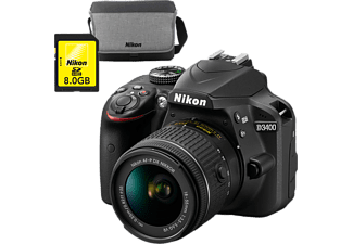 NIKON Appareil photo reflex D3400 + AF-P 18-55mm VR (VBA490K007)