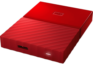 WESTERN DIGITAL My Passport 2 TB USB 3  2.5 Inch Red