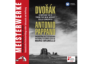 Antonio Pappano, Roma Orchestra Dell' Accademia Nazionale Di Santa Cecilia, Mario Brunello - Symphony No. 9 'from The New World' - Cello Concerto - (CD)