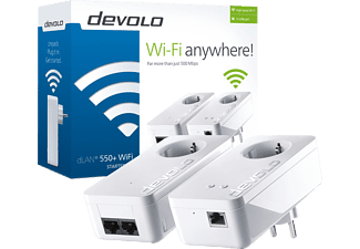 DEVOLO dLAN 550 με WiFi Starter Kit Powerline - (9840)