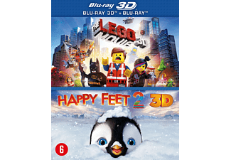 The LEGO Movie + Happy Feet 2 Blu-ray 3D