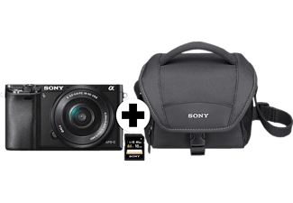 SONY Alpha 6000 Kit Systemkamera 24.3 Megapixel mit Objektiv 16-50 mm f/5.6, 7.5 cm Display  , WLAN