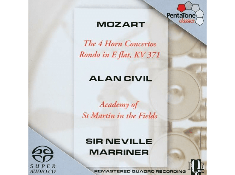 Sir Neville Marriner, Civil,A./Marriner,N./AMF - 4 Hornkonzerte KV 371 [SACD Hybrid]