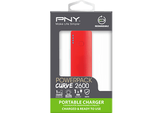 PNY P-B2600-1COLCUR-RB Curve 2600, Powerbank, 2600 mAh, Farbauswahl nicht möglich