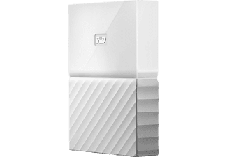 Disco duro de 3TB - Western Digital My Passport, USB 3.0, Blanco
