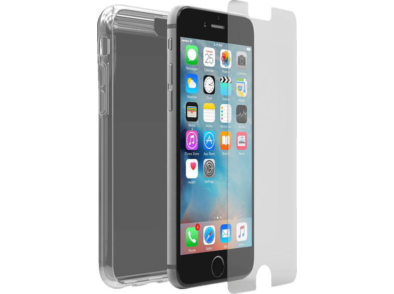 OTTERBOX Protected Skin inkl. Alphaglas Backcover Apple iPhone 6s Thermoplastisches Polyurethan