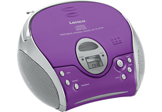 LENCO Radio portable CD Mauve (SCD-24 Purple)