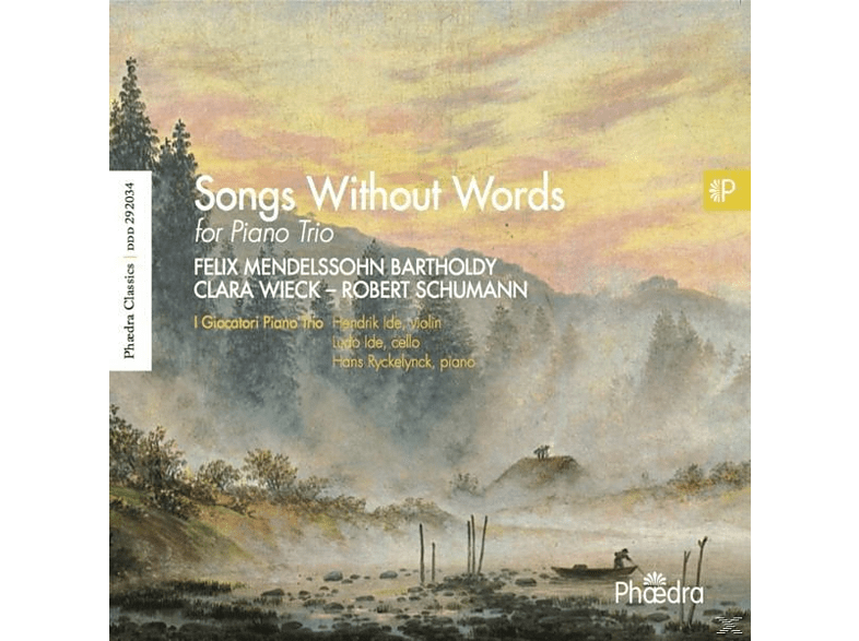 I Giocatori Piano Trio - Songs Without Words For Piano Trio [CD]