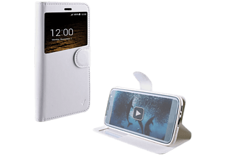 VOLTE-TEL Θήκη Sony Xperia E5 F3311 Leather-TPU View Book Stand White - (5205308172632)