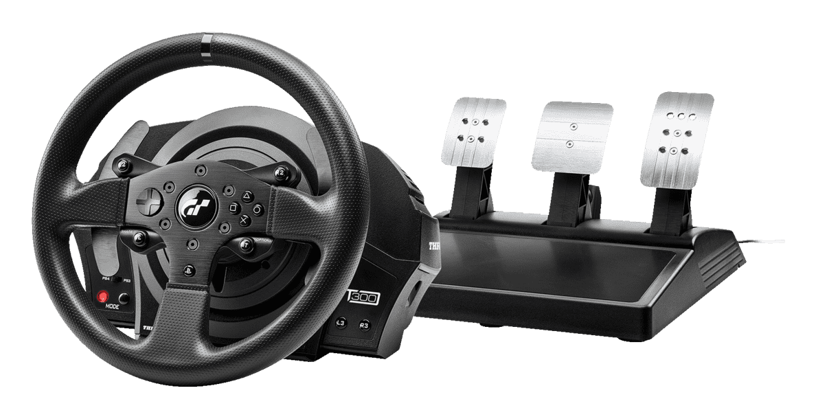 THRUSTMASTER T300 RS GT Edition (inkl. 3-Pedalset, PS4 / PS3 / PC) Lenkrad - Schwarz