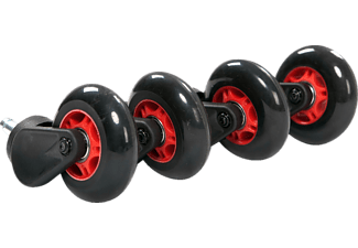 AKRACING Rollerblade Casters, Schwarz/Rot