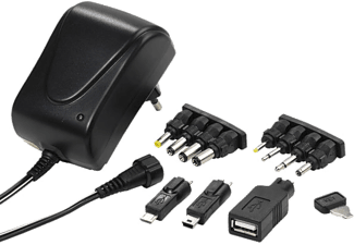 VIVANCO AC/DC Universell adapter 1500mA + USB