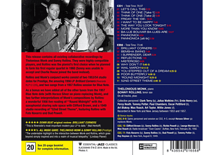 Thelonious Monk & Sonny Rollins - Complete Recordings (CD)