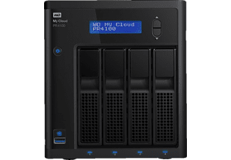 WD My Cloud™ Pro Series PR4100, 8 TB, 3.5 Zoll, NAS-Server, Schwarz