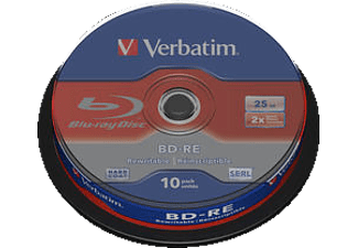 VERBATIM 43694 BD-RE Single 2X 25GB, Rohling, 10er Spindel