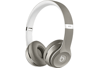 BEATS MLA42ZE/A Solo2 On-Ear Headphones (Luxe Edition) - Silver Outlet
