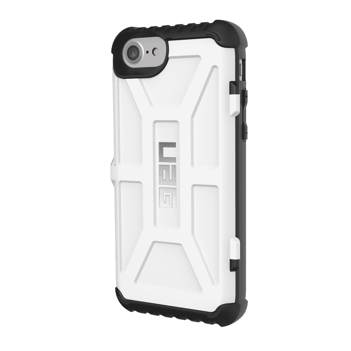URBAN ARMOR GEAR Trooper Card Handyhülle, Weiß/Schwarz, passend für Apple iPhone 6, 6s, 7