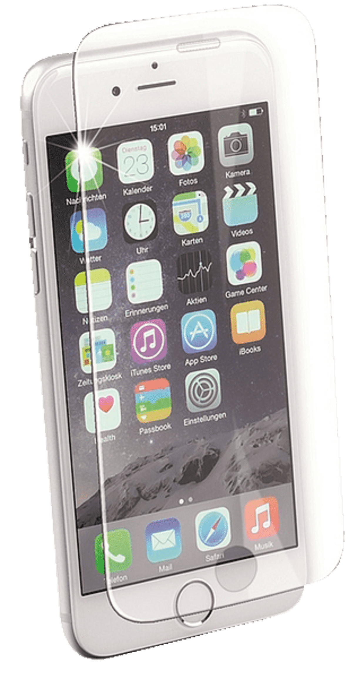 ISY  Tempered Glass Schutzglas für Apple iPhone 7 | 04049011133327