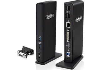 EMINENT Dual Display Docking Station USB 3.1 Gen1 (EM1500)