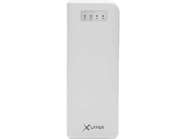 XLAYER 207682 Carbon Powerbank 15000 mAh Weiß